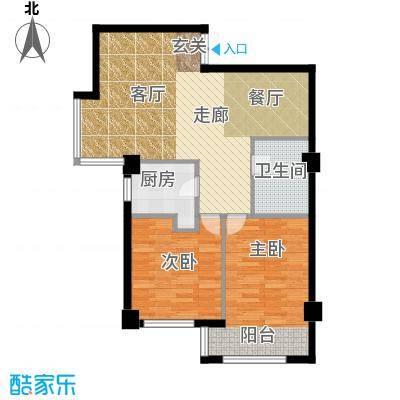 长江杰座长江杰座户型图两室两厅一厨一卫101平米(1/4张)户型2室2厅1卫