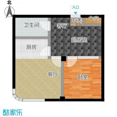 文景清华园58.19㎡一室两厅一卫户型1室2厅1卫