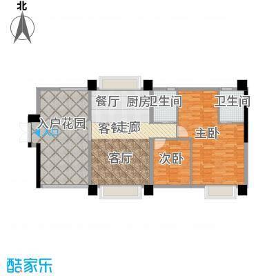 虎门地标户型2室1厅2卫