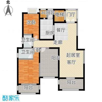 金科王府131.72㎡洋房10F 06室户型2室2厅2卫