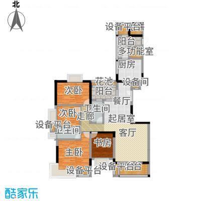 富力唐宁花园A5栋标准层02南向户型4室2卫1厨