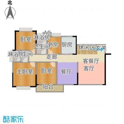 中惠香樟半岛97.00㎡5/6栋-01平面图户型1室1厅2卫1厨