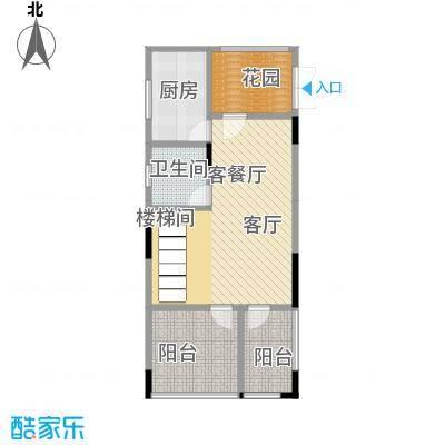 武汉锦绣香江c1层原始户型1厅1卫1厨