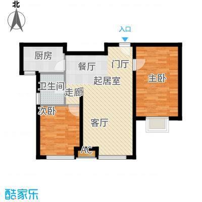 万锦香颂N2户型2室2厅1卫