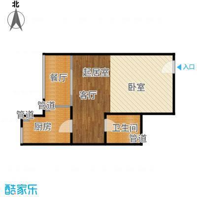 西荷丰润国际公寓57.80㎡西荷丰润国际公寓户型图E户型一室一厅一卫(3/10张)户型1室1厅1卫