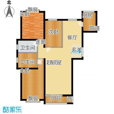 青熙境135.94㎡青熙境135.94㎡3室2厅2卫户型3室2厅2卫
