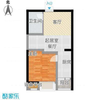 阳光台36556.32㎡新青年公寓C户型1室1厅1卫户型1室1厅1卫