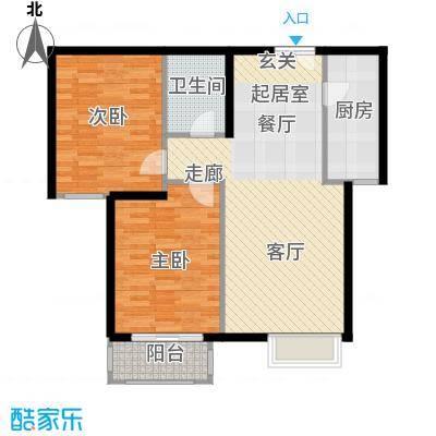 银丰花园88.00㎡银丰花园户型图两室两厅一卫(6/14张)户型2室2厅1卫