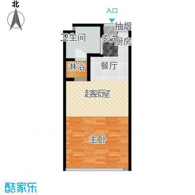 晋合公寓45.00㎡F户型一室一厅一卫45平米户型1室1厅1卫