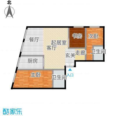 当代MOMA・历峰120.00㎡图为3居户型3室2厅2卫