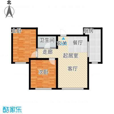 观澜国际94.94㎡2室2厅1卫户型2室2厅1卫CC