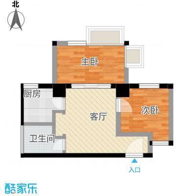 唐品A+51.21㎡在售1号楼2单元标准层4号房二室户型2室1厅1卫1厨