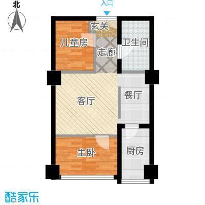 长江杰座长江杰座户型图两房一厅一厨一卫65(2/4张)户型2室1厅1卫