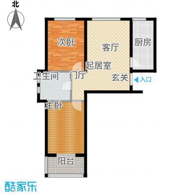西城阳光92.09㎡K户型2室1厅1卫
