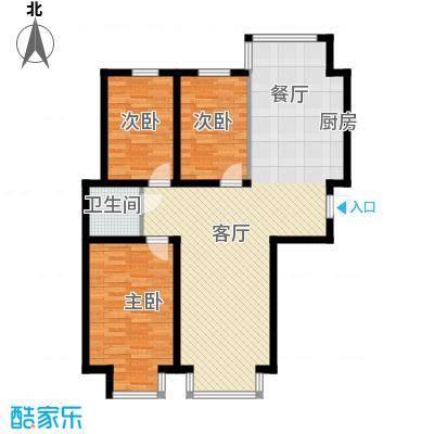 翰逸华园二期115.08㎡P户型3室2厅1卫