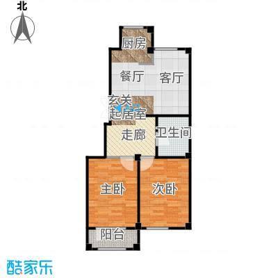 三鼎春天77.00㎡三鼎春天户型图A3户型77平米两室两厅一卫户型图(2/2张)户型2室2厅1卫