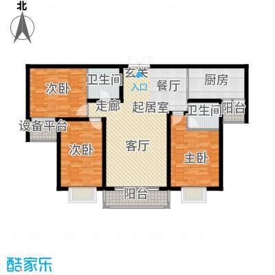 青云景苑117.00㎡2#4#户型3室2厅2卫