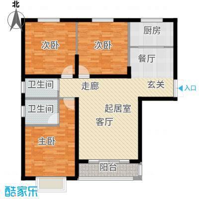 青云景苑127.00㎡2#,4#户型3室2厅2卫