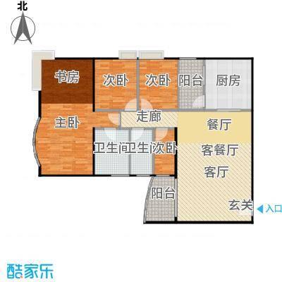 益兆明珠03户型4室1厅2卫1厨