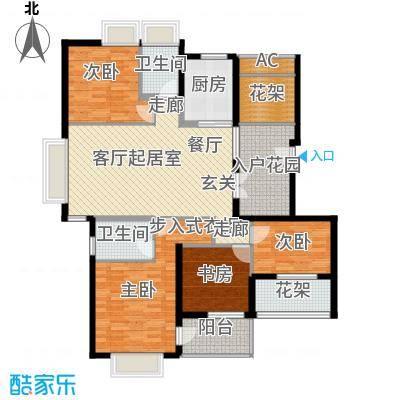 MAX未来128.80㎡F1户型4室2厅2卫QQ