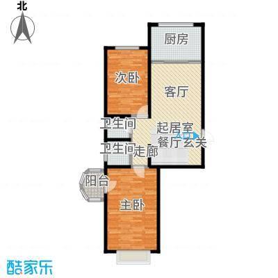 观澜国际105.91㎡A区19号楼西户型2室2厅1卫CC