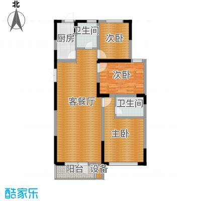 同方广场125.00㎡E户型3室2厅2卫
