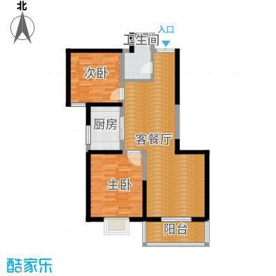 海�国际90.00㎡7号楼C户型2室1厅1卫1厨