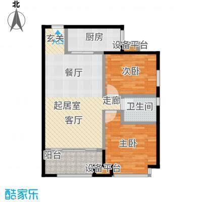 名品建筑88.27㎡2室2厅1卫户型2室2厅1卫CC