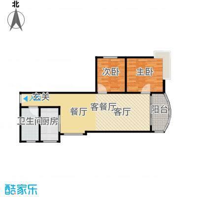 益兆明珠04户型2室1厅1卫1厨