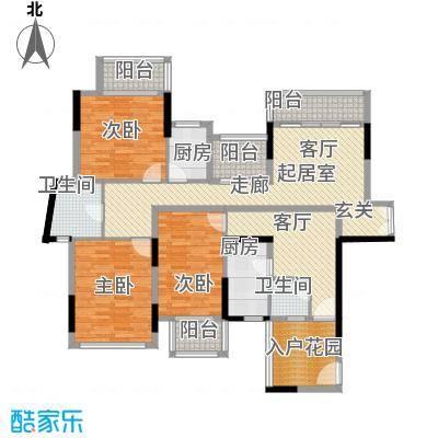 招商观园6栋二、三单元E、F 户型图(偶数层)户型