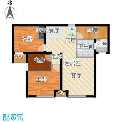 万锦香颂103.13㎡N6户型2室2厅1卫