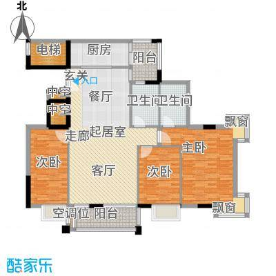 高雅湾126.28㎡高雅湾户型图园景华邸E1户型(6/15张)户型10室