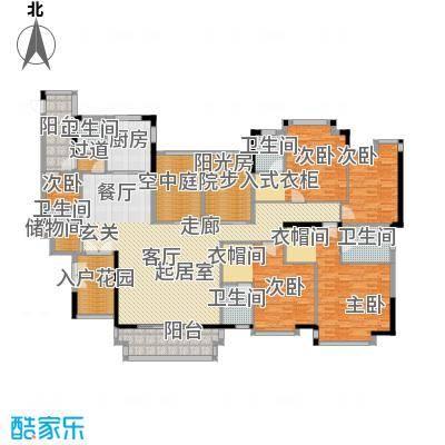 地标广场二期243.00㎡D8、9号楼02单位户型5室5卫1厨