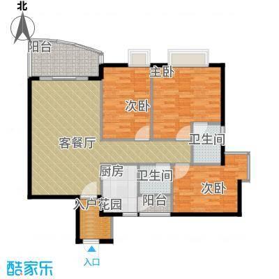 三正世纪豪庭90.04㎡户型3室1厅2卫1厨