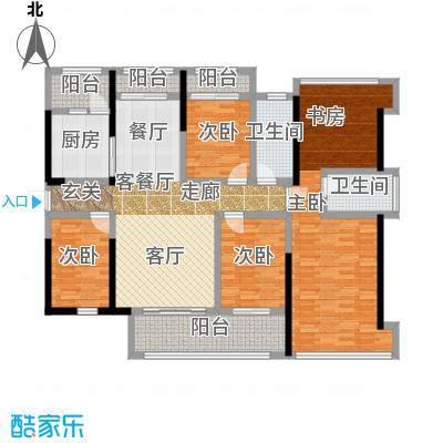 金亨利都荟首府E型东向户型4室1厅2卫1厨