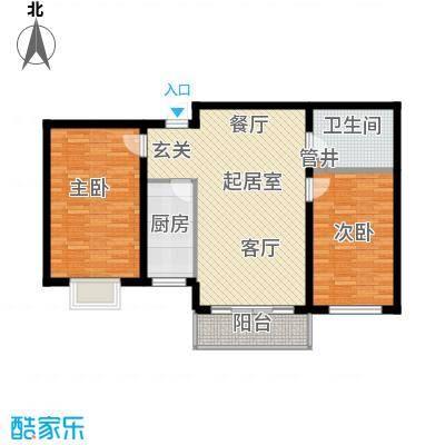 万锦花语岸88.00㎡万锦花语岸户型图(7/18张)户型10室