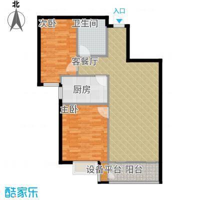 世纪学庭87.36㎡C2户型2室2厅1卫
