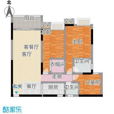湖景壹号庄园户型3室1厅2卫1厨