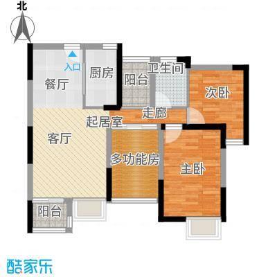 丰泰东海城堡78.00㎡3栋2、4单元04栋1单元07栋2单元0户型1室1卫1厨