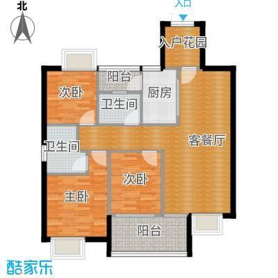 盈拓郦苑88.95㎡9栋2-13层02单元户型3室2厅2卫