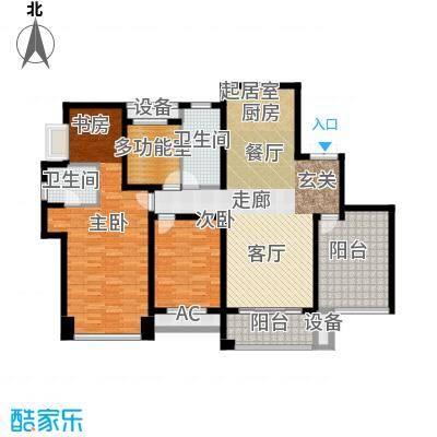 运河公馆152.00㎡高层F户型 4房2厅2卫户型4室2厅2卫