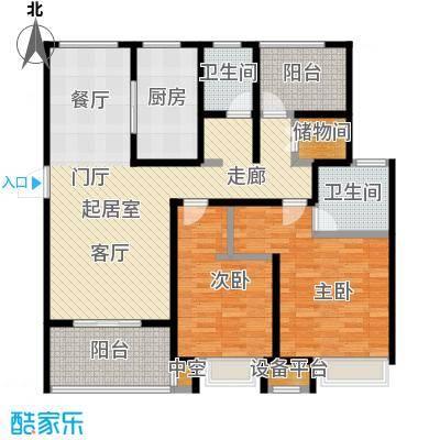 绿地中央广场116.00㎡绿地中央广场户型图C户型(1/2张)户型3室2厅2卫