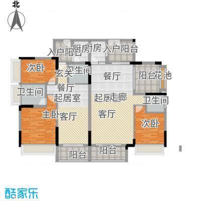 招商观园177.00㎡二期8-9栋2单元_10栋C-D型奇数层4房2厅3卫177㎡规划平面户型4室2厅3卫