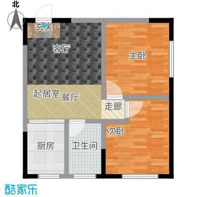 白领公寓66.87㎡白领公寓66.87㎡2室2厅1卫户型2室2厅1卫