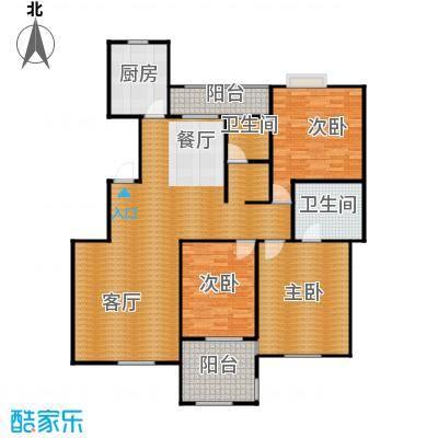 万锦花语岸163.00㎡户型3室1厅2卫1厨