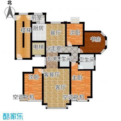 荣斌公园壹号175.02㎡C户型4室2厅2卫