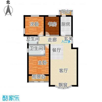 泰和尚都135.56㎡泰和尚都户型图三室两厅两卫(2/7张)户型10室