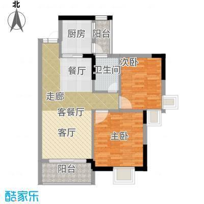 鼎盛中环66.99㎡户型2室1厅1卫1厨