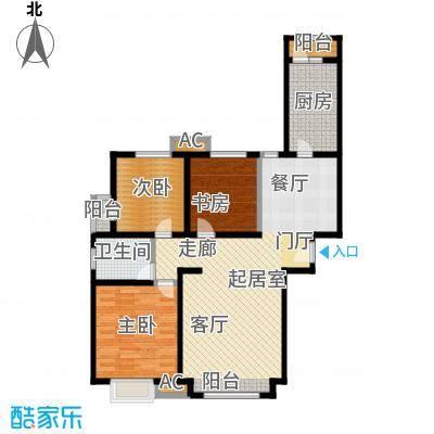万锦香颂113.70㎡N1、N3户型3室2厅1卫