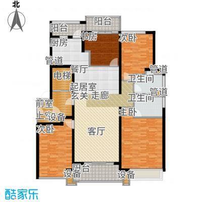九龙仓雅戈尔铂翠湾168-170平米户型4室2厅2卫